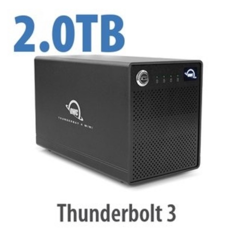 OWC ThunderBay 4 mini TB3 SoftRAID Lite XT 2TB SSD